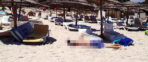 37 mennesker drept i angrep mot turisthotell i Tunisia