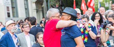 Truer med � flytte til Canada etter lov om likekj�nnet ekteskap