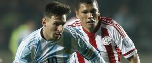Messi og Di Maria herjet i semifinalen mot Paraguay