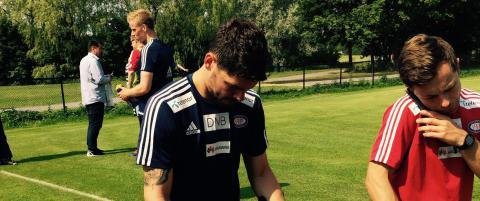 Her hinker Daniel Fredheim Holm bort fra trening: - Veldig vondt