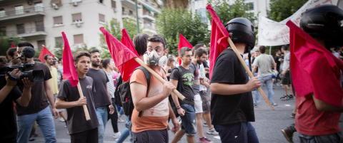 Arbeidsledige greske ungdommer avgj�r