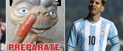 Satiremagasin med frekk advarsel til Messi