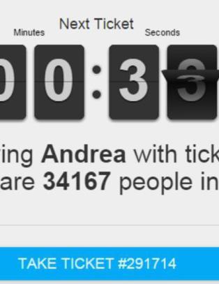 35 000 mennesker i k� for � f� ett minutt p� denne nettsida