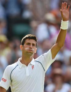 Djokovic fikk et sv�rt uvanlig fotograf-sp�rsm�l etter seier