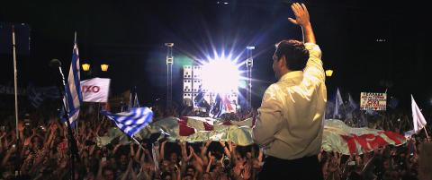Titusenvis demonstrerte f�r folkeavstemning i Hellas
