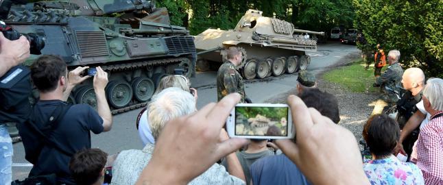 Politiet rykket ut og fant stridsvogn hjemme hos tysk pensjonist