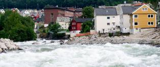 Krisem�te i Odda kommune om flommen