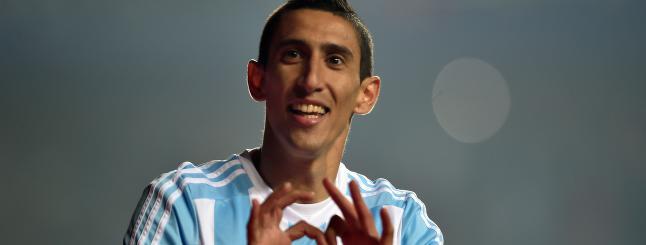- Di Maria er p� niv� med Messi og Ronaldo