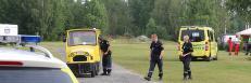 Gutt (10) alvorlig skadd da et tog fullt av barn veltet p� en campingplass