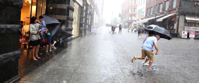 Finn fram paraplyen, i dag skal det �se ned