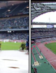 Produsentenes tv-bilder viser at stadion er full - i realiteten er den noe helt annet