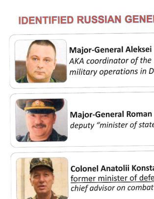 - Disse russiske generalene leder oppr�ret i �st-Ukraina