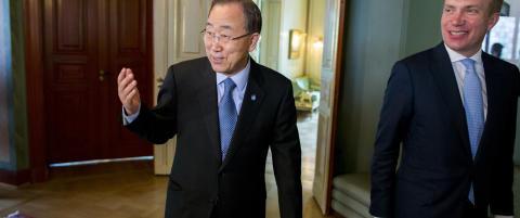 Ban Ki-moon til Svalbard for � se klimaendringene