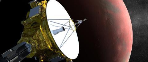 Romsonden �New Horizons� i tr�bbel bare dager f�r den n�r Pluto