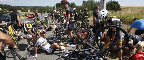 Tour-ryttere reagerte da feltet ble n�ytalisert etter velt: - Det var noe dritt