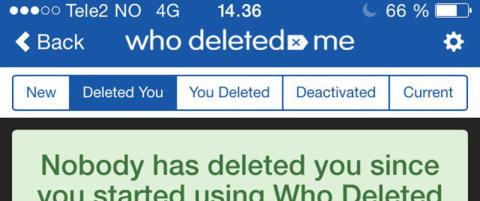 Ny app avsl�rer hvem som har slettet deg fra Facebook