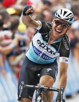 Vant Tour de France-etappe p� l�nt sykkel