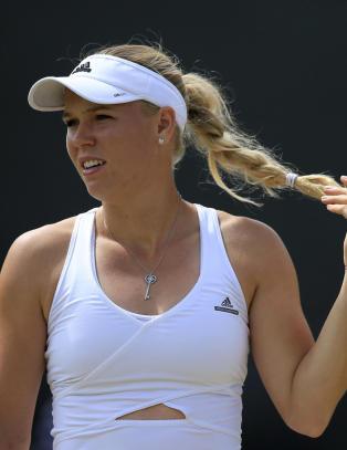 F�rst r�k hun ut av Wimbledon. S� ble hun servert et pinlig sp�rm�l om eksen