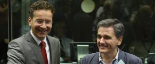 Her gj�r Hellas' ferske finansminister en skikkelig nybegynnertabbe