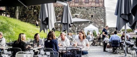 Festningen har Oslos fineste uteservering