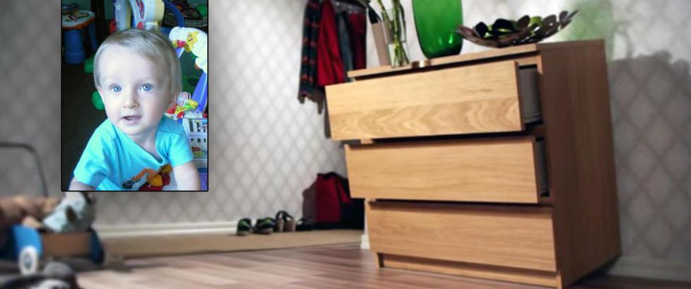 Ikeas egen skrekkvideo viser hvor farlig det er n�r en kommode velter