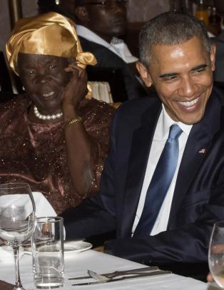 Her møter Barack bestemor Obama