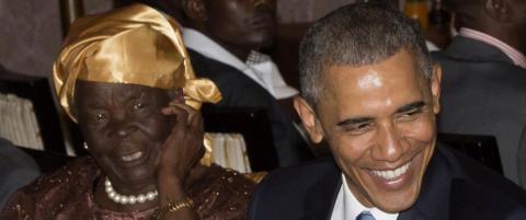Her m�ter Barack bestemor Obama