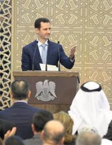 Selvsikker Assad i f�rste tale p� et �r: - Jeg skal vinne denne krigen