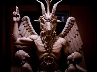 Satanistisk skulptur satt opp i hemmelighet i Detroit
