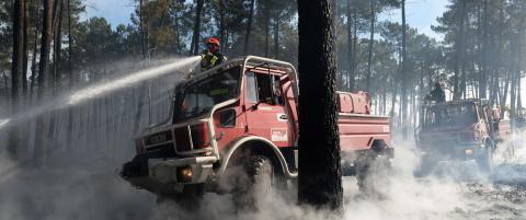 Skogbranner ute av kontroll truer vinomr�de i Bordeaux