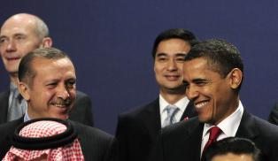 Kaos-kameratene Obama og Erdogan