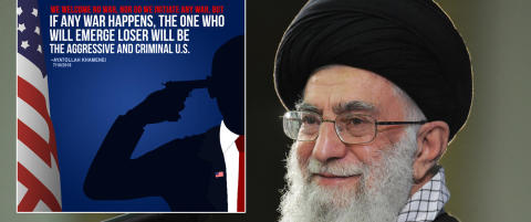 Irans leder la ut bilde av person som ligner på Obama med pistol til hodet