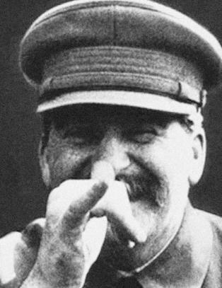 Stalin peker nese til verden fra sin grav