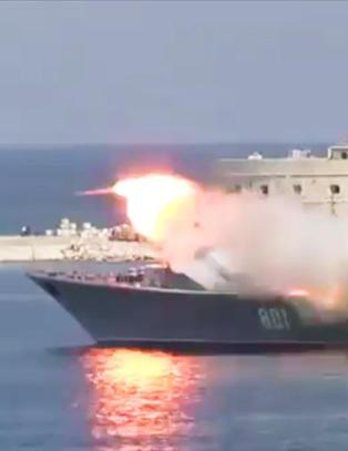 Russisk bomskudd da Putin skulle vise ildkraft p� Krim