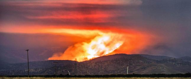 F�rst ble California rammet av den verste t�rken p� 1200 �r. N� flykter hundrevis fra flammene