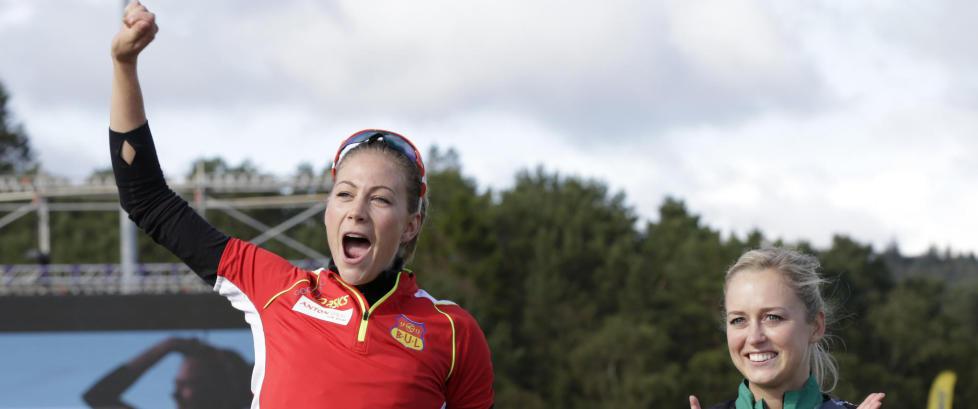 Pedersen forbedret sin personlige rekord med fire hundredeler da hun ble norsk mester