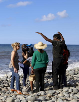Flyd�r har skylt i land p� Reunion-�ya