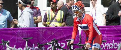 Moberg f�rste norske kvinne p� pallen i verdenscupritt i sykling