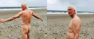 Olaf (68) inviterte bygda til � v�re nakne da NRKs sommerb�t kj�rte forbi