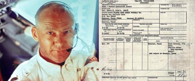 Buzz Aldrin leverte reiseregning etter verdens f�rste ferd til m�nen