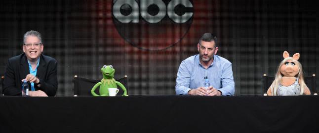 Miss Piggy og Kermit �sl�r opp�