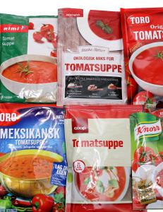 Test av tomatsuppe p� pose: Dette er de sunneste valgene