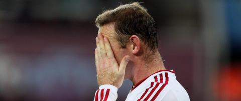Hevder Rooney n�rmer seg bristepunktet. Til og med lokalavisa gir opp