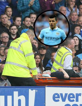 Da Everton-supporteren kollapset, reagerte Ag�ero lynraskt