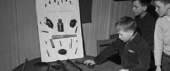 Norske barn fikk skyte med rifler i gymtimene