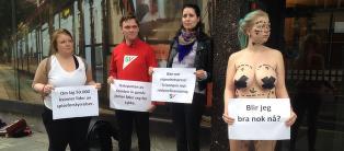 SV-politiker stilte naken i Bergen