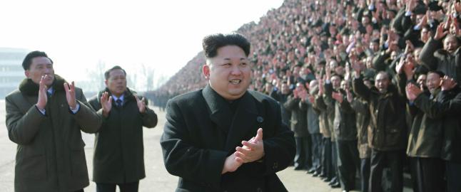 Kim Jung-un mener det var atomv�pnene deres som skremte vekk s�rkoreanerne