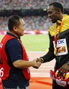 Den uheldige segwaymannen fikk tilgivelse og evig vennskap fra Bolt