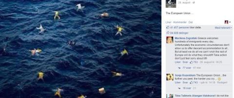 I Banksys flagg er ikke EU verdt en eneste stjerne