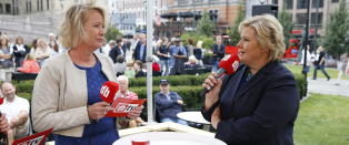 I dag kommer Erna Solberg til Dagbladets valgbod